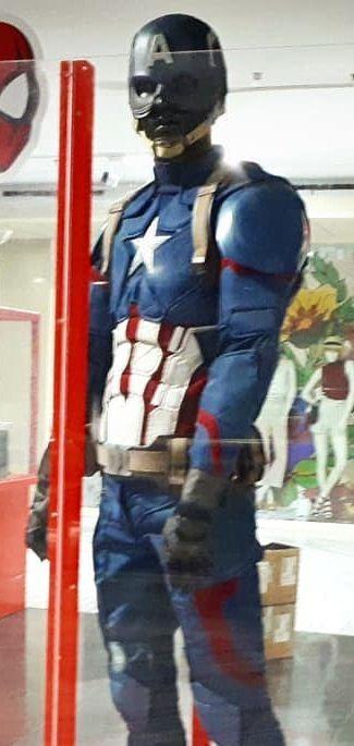 Traje del 'Capitán América' escala 1:1