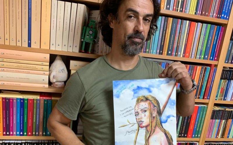Juan Carlos Mora cede una ilustraciones de 'Andamana' a la subasta del Salón
